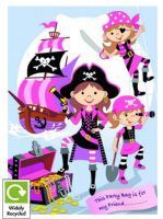 Pink Pirate Party Loot Bag